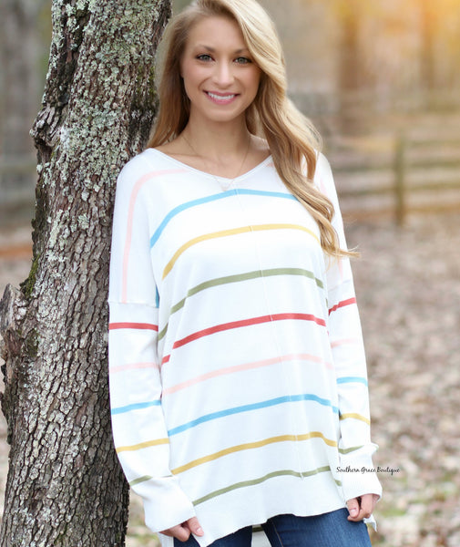 Cozy Days Sweater, Striped
