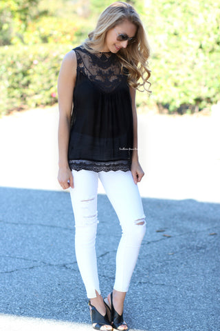 Embracing Lace Tank