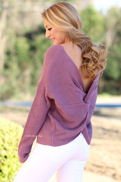 Ready Or Knot Sweater, Lilac