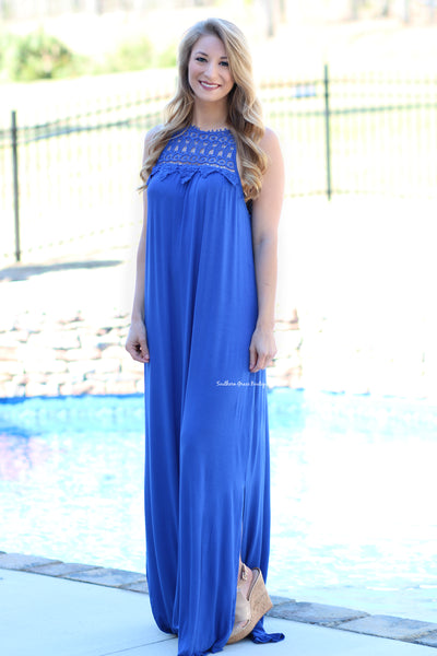 Coastal Cruisin' Maxi Dress, Cobalt Blue