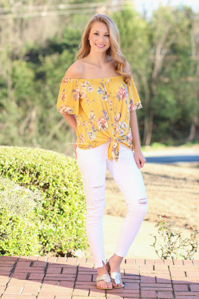 Feeling Flirty In Floral Top, Yellow