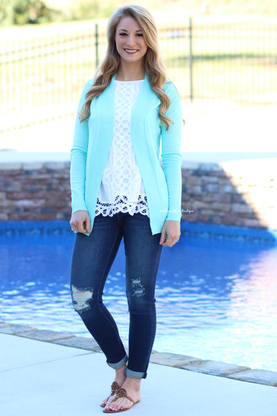 Basic Girl Cardigan, Mint