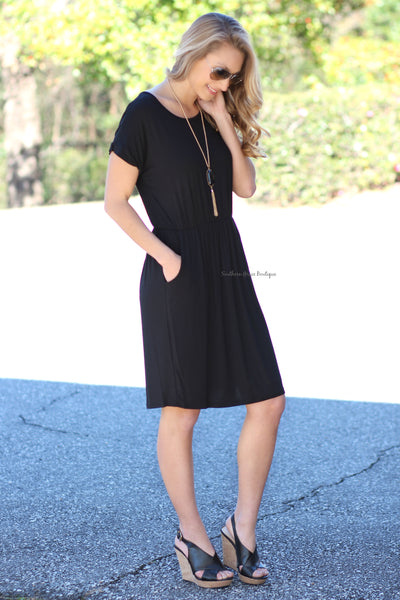 Simple Kind Of Girl Dress, Black