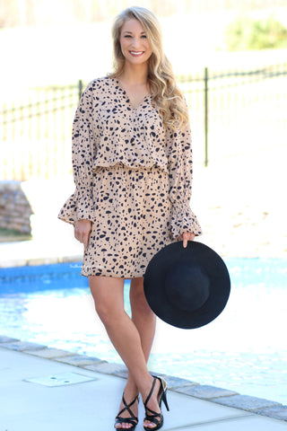 Lovely In A Leopard Print Dress