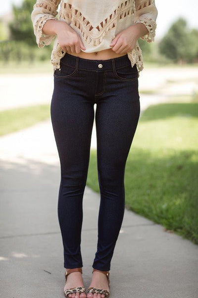 Work It Girl Jeggings - Denim