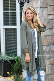 Enchanted Crochet Cardigan - Olive