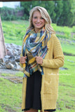 Feeling Cozy Sweater Cardigan - Mustard