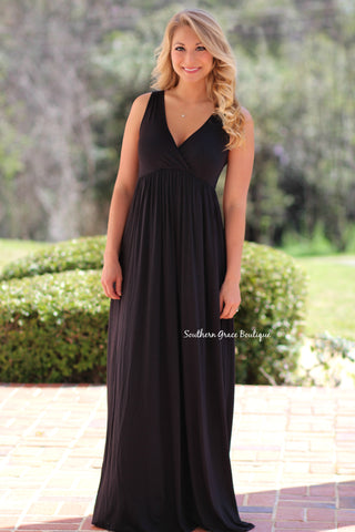 Lovely You Lace Maxi Dress, Black