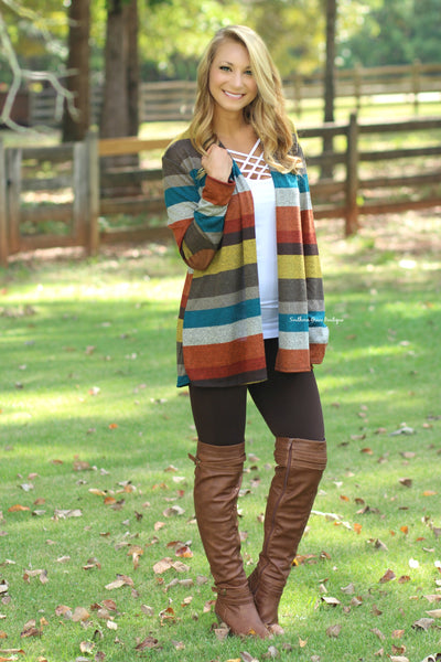 Fall into Place Cardigan - Mustard FINAL SALE ITEM