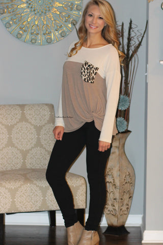 A Touch of Leopard Knit Top - FINAL SALE ITEM!
