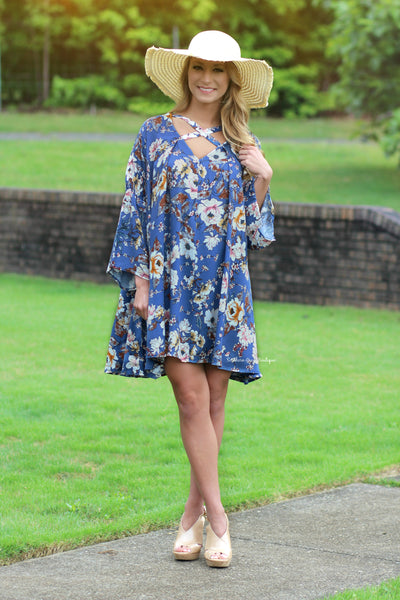 Right To Bloom Bellsleeve dress
