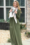 Perfect Day Maxi Dress - Olive