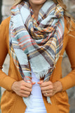 Warm Me Up Plaid Scarf - Mustard