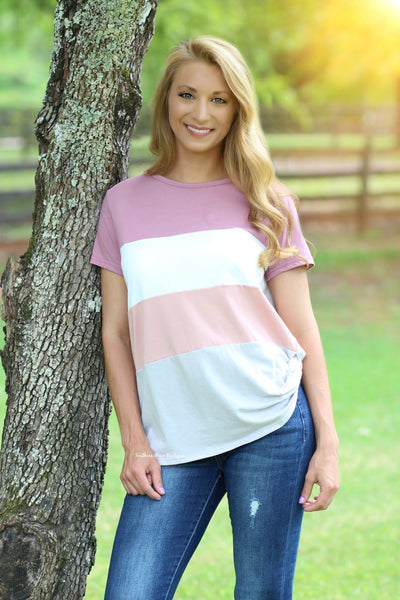 Always On Your Side Colorblock Top
