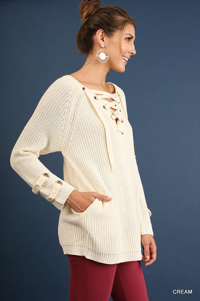 Down To Earth Sweater, Ivory