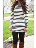 Favorite Side-Cinched Tunic, Black Striped