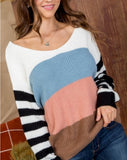 Ready or Knot Sweater, Blue Multi