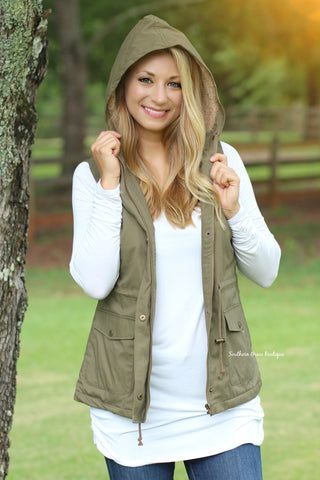 Ready For The Chill Vest (lined) - Olive