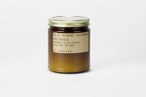 NO. 19: PATCHOULI SWEETGRASS SOY CANDLE