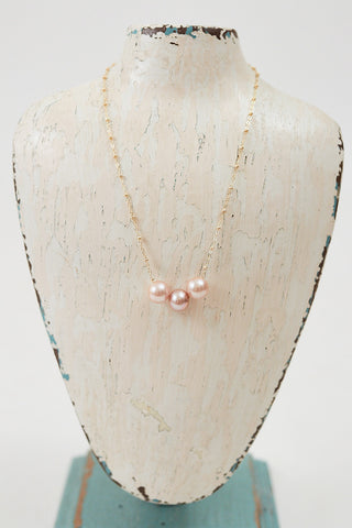 Triple Floating Pearl Necklace