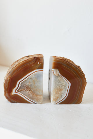 Red Agate Bookends
