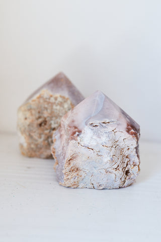 Pink Amethyst With Natural Sides