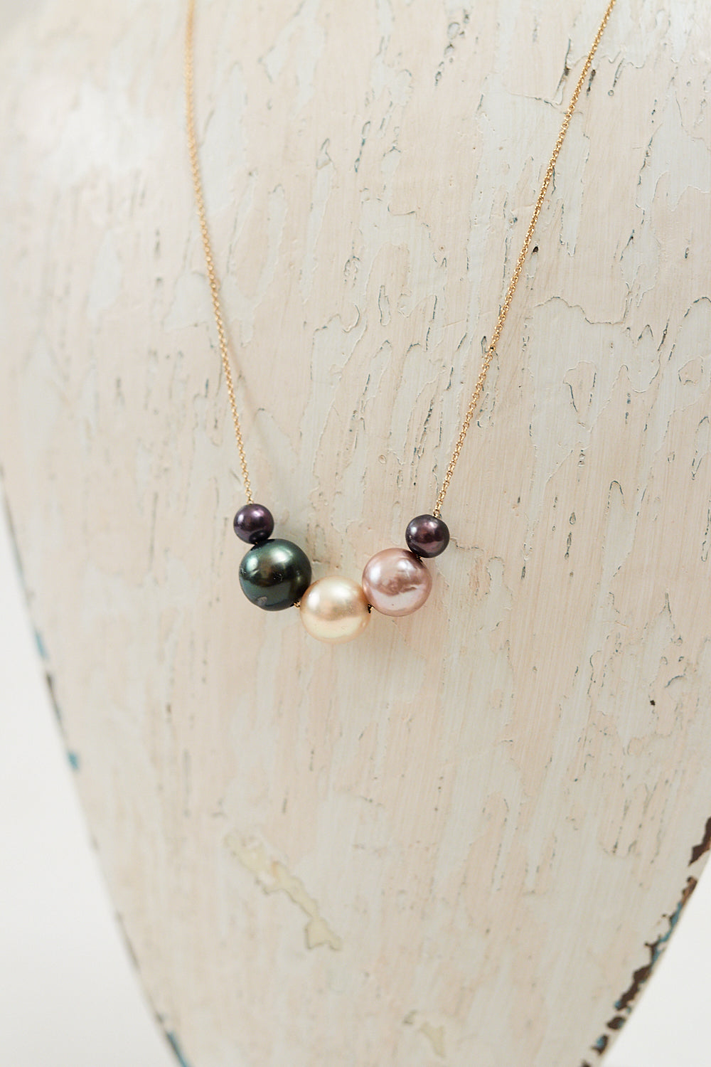 Purple Rainbow Pearl Necklace