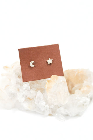 Star Stud Earring With Diamonds