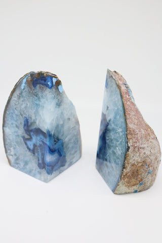 Blue Agate Bookend