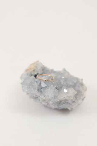 Thin Stacking Ring With Cubic Zirconia