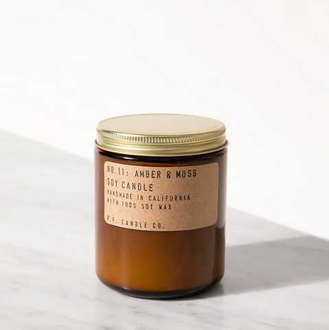 NO.11: AMBER & MOSS SOY CANDLE