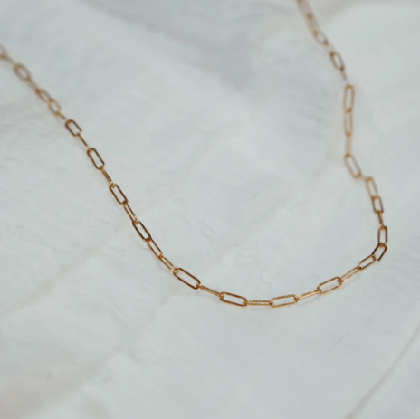 Bitsy Paperclip Chain Necklace