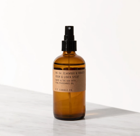 NO. 04: TEAKWOOD & TOBACCO ROOM/LINEN SPRAY