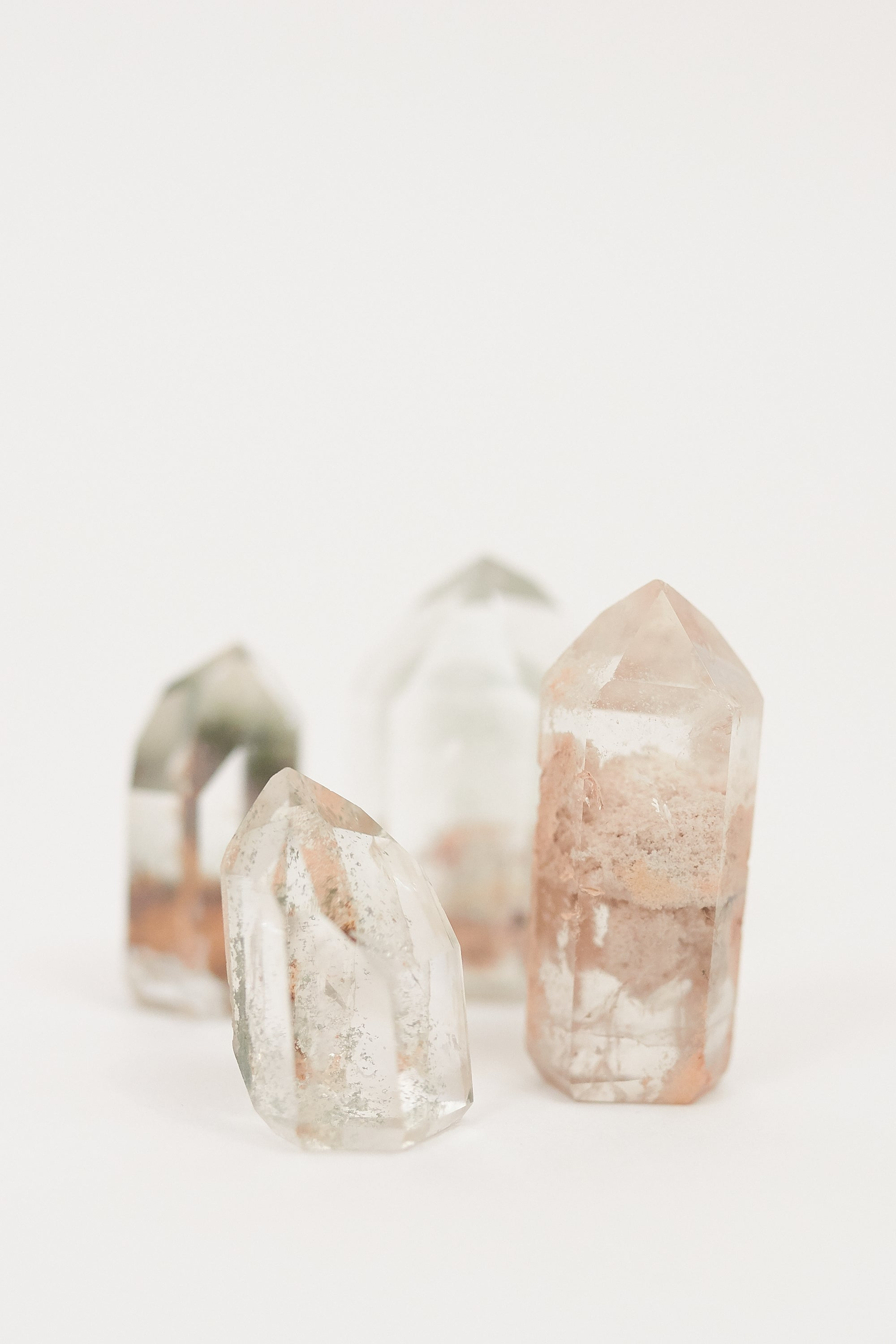 Polished Included Quartz Crystal