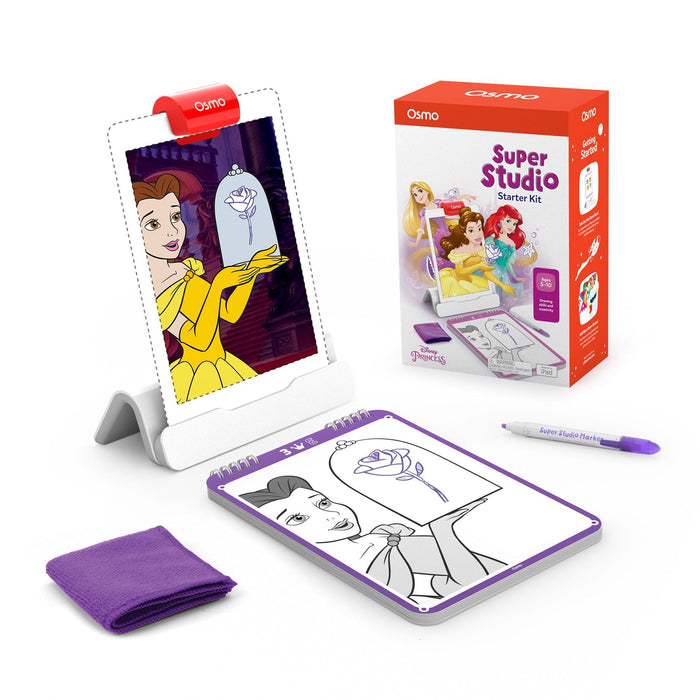 Osmo Super Studio Disney Princess Starter Kit for iPad for Ages 5-11 (Osmo Base included) Tekitin Technology