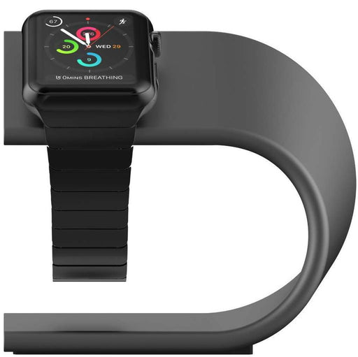 Nomad Stand for Apple Watch in Space Grey on Tekitin Technology