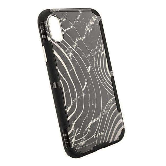 "EFM Cayman D3O Case Armour for Apple iPhone XR (6.1"") - Black Marble 