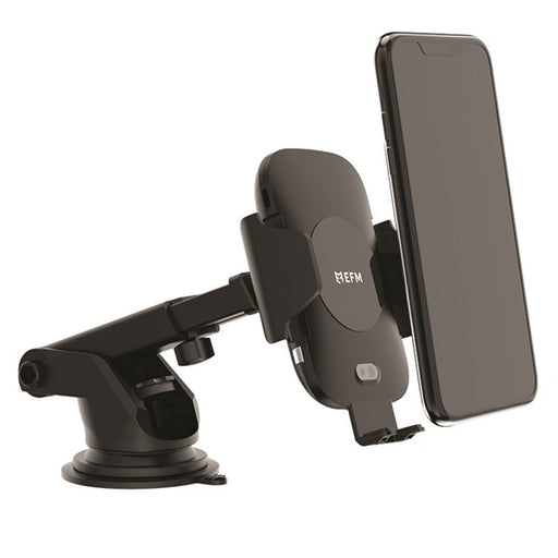 EFM 10W Wireless Auto-Sensor Car Mount  & 18W Car Charger - Black | Tekitin Technology