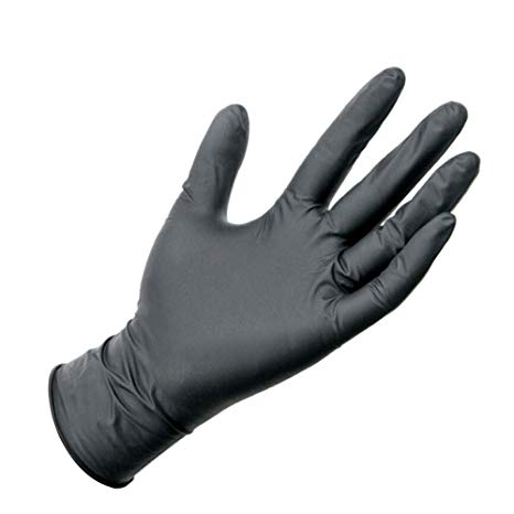 Nitrile Black Gloves PowderFree Medium - Black