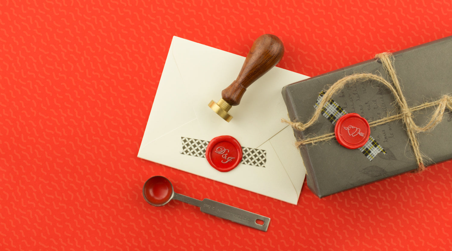 Create a double character wax seal stamp for someone special.