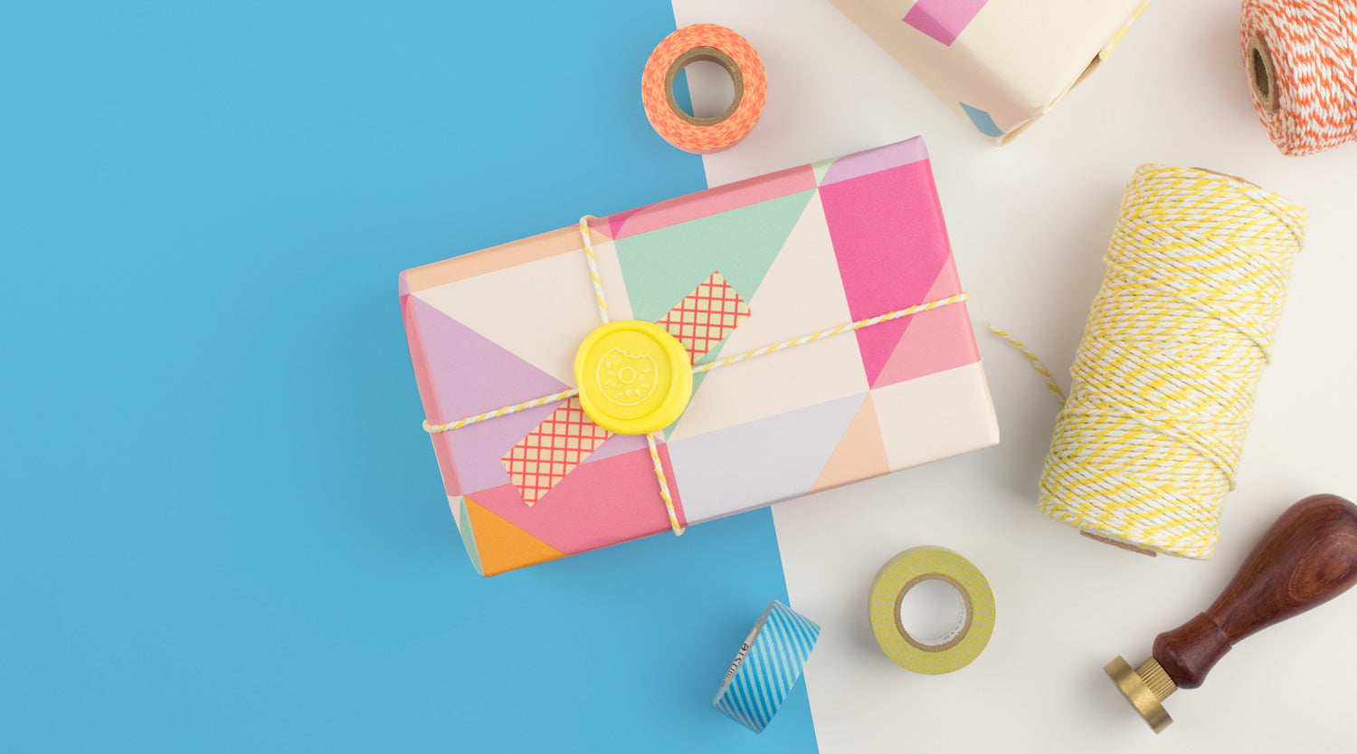 Lift your wrapping game with our new collection of washi tape, cotton bakers twine and wrapping paper.