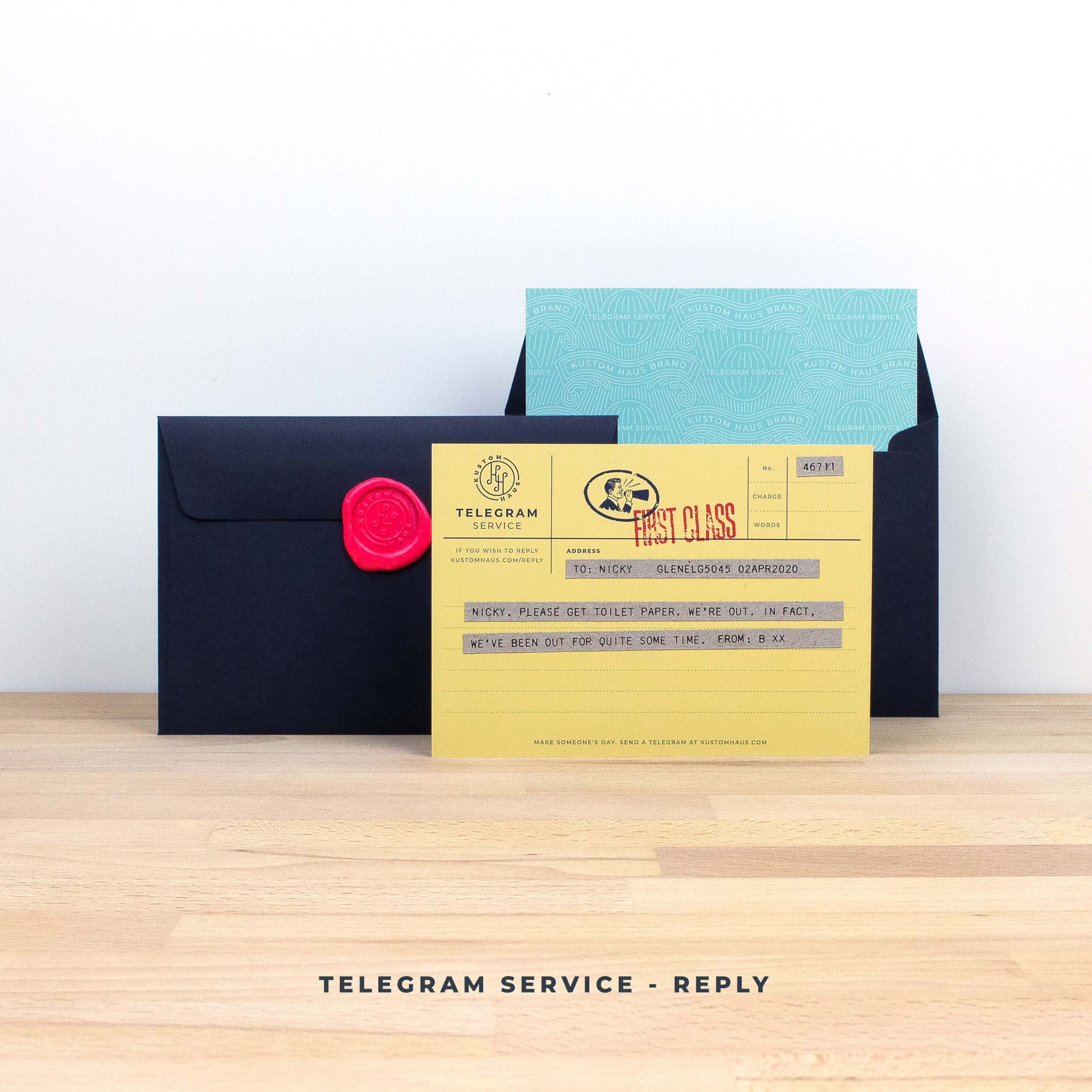 Kustom Haus Telegram Service - Send a Reply