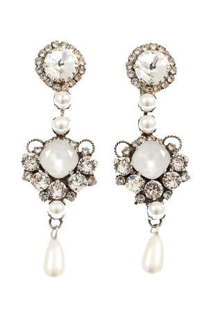 Artwear Dimitriadis Pearl Crystal Earrings