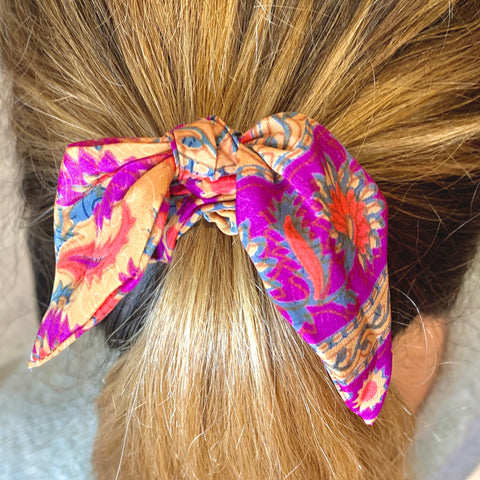 Pattern Bow Scrunchie