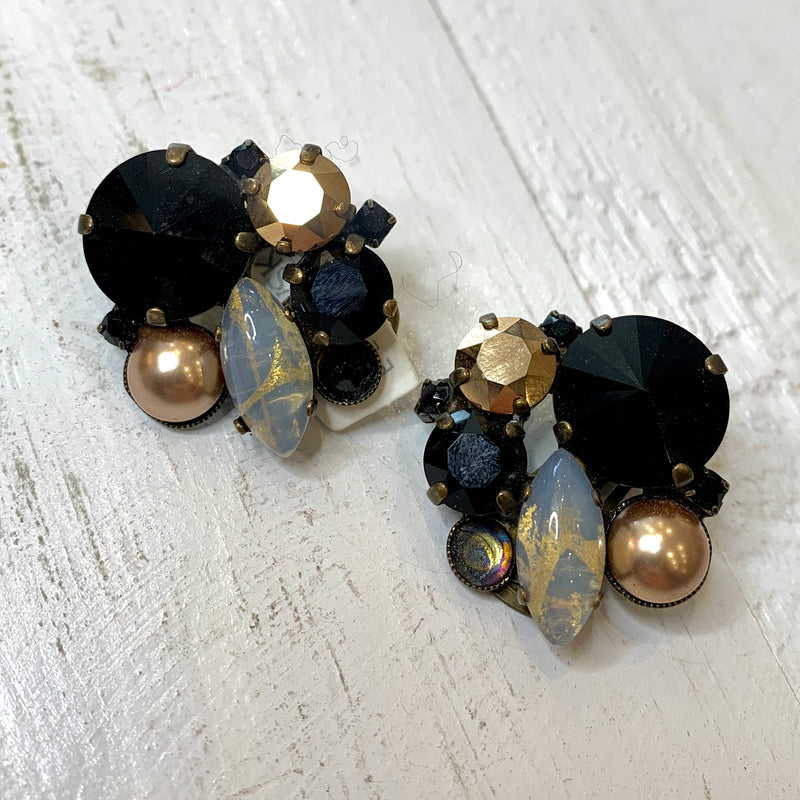 Crystal Swarovski Clip on Earrings