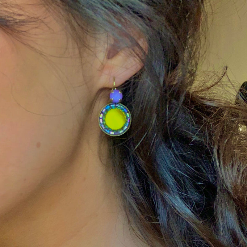 Olive and Lilac Earrings