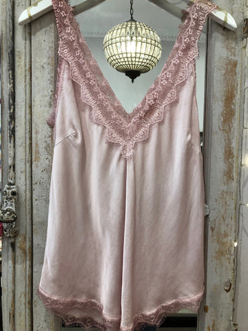 Baby pink camisole top