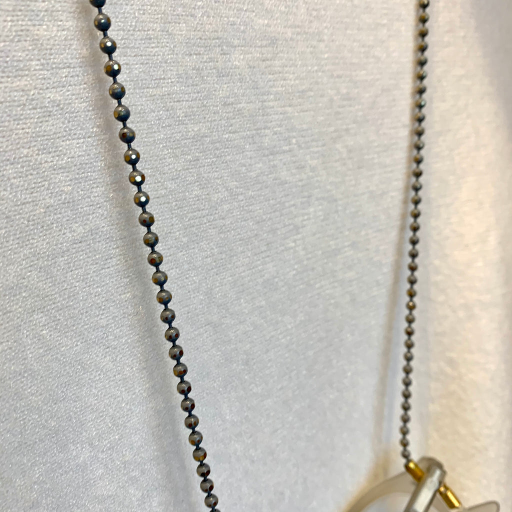Grey Beaded Glasses Chain