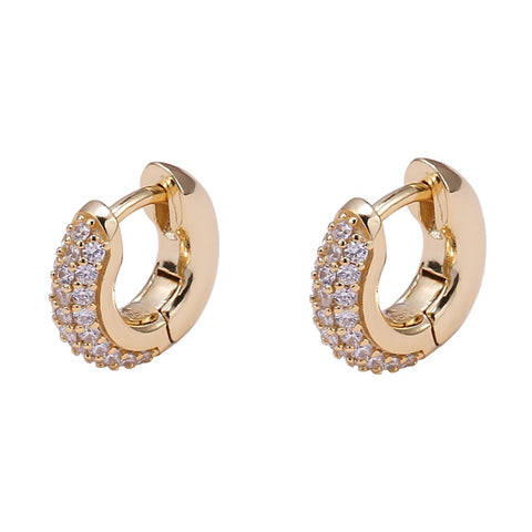 Baby gold hoops