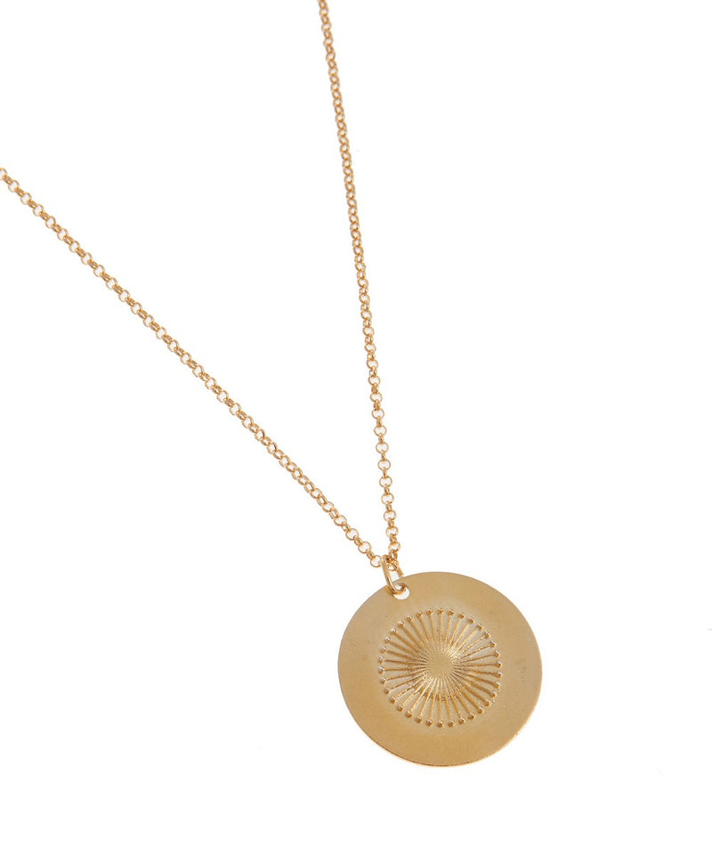 Gold Sun Disk Necklace